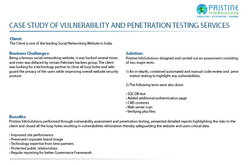 vulnerability assessment and penetration testing services in mumbai